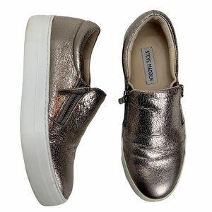 STEVE MADDEN Glaammar Zip Platform Sneaker. SZ 8